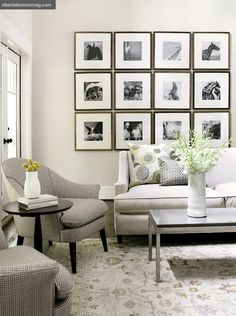 21 Chic Monochrome Traditional Living Room Designs Photo 10 - Black and White Living Room with Cute Square Wall Decor : 21 Chic Monochrome T. Interior Design Blogs, Home Interior, Ikea Interior, Interior Paint, Interior Ideas, Small Living Rooms, Living Room Designs, Tiny Living, Modern Living