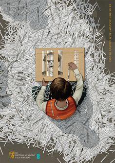 Argo poster for BAFTA | Illustrator: Jonathan Burton