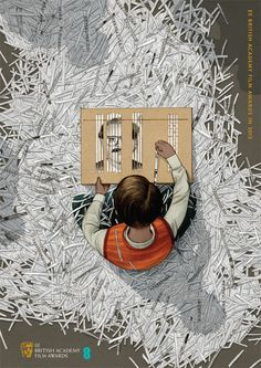 Argo poster for BAFTA | Illustrator: Jonathan Burton #illustration