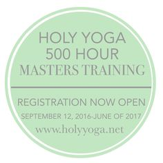 Wanting to go deeper into your relationship with Jesus and deeper into your knowledge of yoga??? The Master's is for YOU (and this only comes around every other year.) The Holy Yoga Master program is an in-depth discipleship program dedicated to equipping existing 200 hour Yoga Instructors to go forth in effectively communicating the gospel through the modality of yoga to the ends of the earth. This 9-month program includes study of the Energy, chakras, yamas/niyamas, limbs, sutras, the…