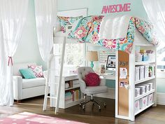 I love the PBteen Paisely Punch Bedroom on pbteen.com