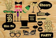 Free Printable New Year 2019 Photo Booth Props Free Printable New Year 2019 Photo Booth Props Diy Photo Booth Props, Photo Booths, Photobooth Props Printable, New Year Photos, Party Props, Party Ideas, Party Games, Graduation Diy, Games For Teens