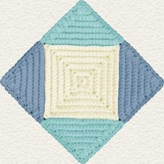 Tumbling Blocks Crochet Afghan Pattern Free : 1000+ images about Afghans -- Tumbling Blocks - Crochet on ...