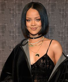 Image result for layered necklace celebrity rihanna