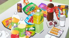 anime snack japanese aesthetic kawaii aesthetics junk japan wallpapers drawing party birthday backgrounds scenery animation illustrations animefood essen happy wallpaperaccess