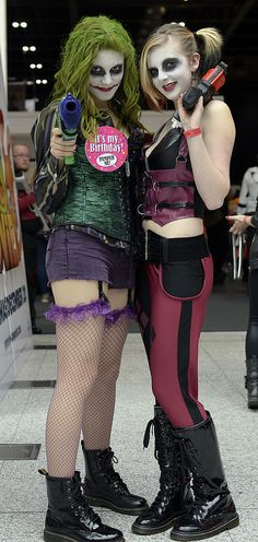 Joker #Rule63 and Harley Quinn #cosplay at MCM Comic con 2013