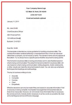 Sample Business Letters And Forms  Forms    Business