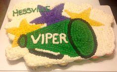Viper cheerleading cupcake cake
