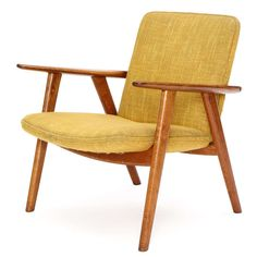 Oak Reading Chair by Hans J. Wegner | From a unique collection of antique and modern lounge chairs at https://www.1stdibs.com/furniture/seating/lounge-chairs/