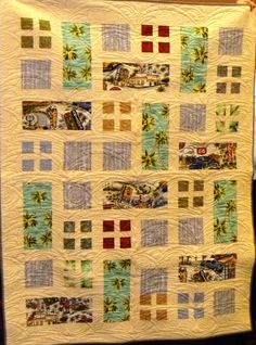 A delicious quilt made by Connie Sloan and quilted with palm fronds.