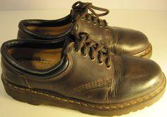 Vintage Doc Martens Men Leather Oxford Shoes Dark Brown 8.5M #DocMartens #Oxfords