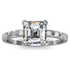 asscher cut diamond ring - Google Search
