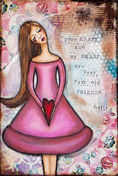 Inspirational Soulmate Quote Whimsical Mixed Media by LadyArtTalk