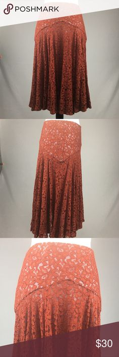 Anthropologie Moulinette Soeurs Lace Skirt Gorgeous skirt from Anthropologie! Perfect to pair with some tall boots!   This item has been inspected for signs of wear. Any signs of wear will be shown in pictures. Anthropologie Skirts