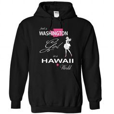 Awesome Tee WASHINGTON GIRL IN HAWAII WORLD T shirt