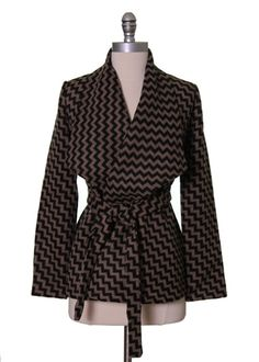 Chevron Wrap Jacket by Tulle