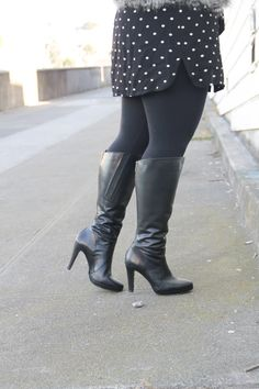3be7c3c9e9a Those are definitely a great pair of wide calf boots. We love the dark boots dark  tights combo and recommend pairing them with a loose or free flowing skirt  ...