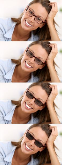 Photochromic or transitions lenses change from light to dark when exposed to sunlight, for great convenience.