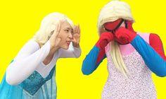 Spiderman wear dress Frozen Elsa vs Joker, Pink Spidergirl Ball Pit Pool...