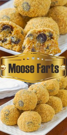 Moose Farts - A super easy to prepare, no-bake cookie treat that kids will love . - Moose Farts – A super easy to prepare, no-bake cookie treat that kids will love and maybe giggle - Easy No Bake Desserts, No Bake Treats, Köstliche Desserts, Yummy Treats, Delicious Desserts, Sweet Treats, Dessert Recipes, Yummy Food, Delicious Chocolate