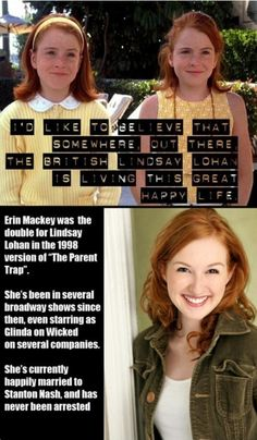 This is not even true. If you look on the box it clearly says that Lindsay Lohan played both parts.