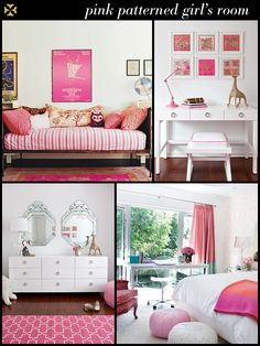 girly rooms  I really like amanda peet's daughter's room - the top left pic