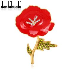 Cheap flowers pin, Buy Quality flower shaped wedding rings directly from China flower ideas Suppliers:    New Fashion Red Enamel Gold Tone British Poppy Brooch Flower Pin with Leaf Souvenir Party GiftsUSD 2.22/pieceNew Fash