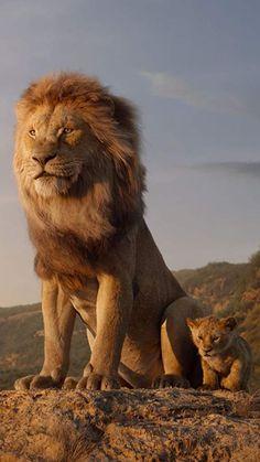"Mufasa and Simba from ""The Lion King"" - redneck Lion King Movie, Lion King Art, Lion Art, Disney Lion King, The Lion King, Lion Wallpaper, Animal Wallpaper, Beautiful Cats, Animals Beautiful"