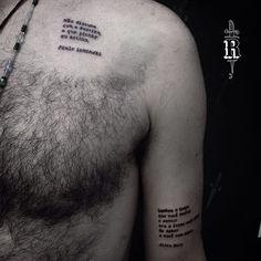 Micro-poemas do Rafael.  #tattoo #curitiba #typewriter #pauloleminski #aliceruiz #broncotattoo