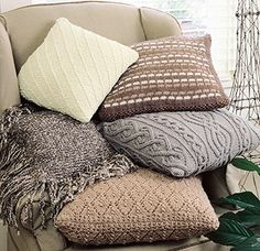 Five Classic Knit Pillow Designs free knitting pattern from leisurearts.com 10/5/13