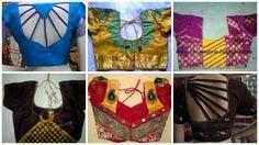 Designer blouse designs for back neck for sarees