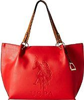 a9a470fda0 U.S. POLO ASSN. Women s Kingston Tote Red Tote Kingston