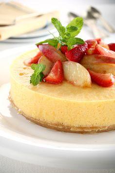 Torta helada de duraznos