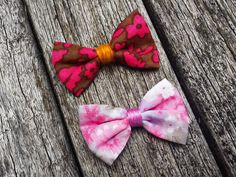 Spring Bow Tie Lapel  Pink Floral Bow Lapel  Pink Bow by MayCheang
