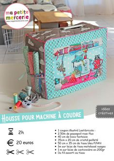 TUTO: make a sewing machine cover Make an accessory for your sewing machine. It cleverly conceals your sewing machine and […] Coin Couture, Sewing Hacks, Sewing Tutorials, Sewing Tips, Fabric Basket Tutorial, Leftover Fabric, Creation Couture, Sewing Accessories, Love Sewing