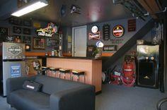 simple garage man cave ideas
