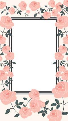 Flower Backgrounds, Wallpaper Backgrounds, Iphone Wallpaper, Collage Background, Background Pictures, Kids Room Murals, Polaroid Frame, Borders And Frames, Flower Frame
