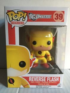 Funko Pop Heroes DC Universe Reverse Flash 39 Vinyl Figure Mint   eBay