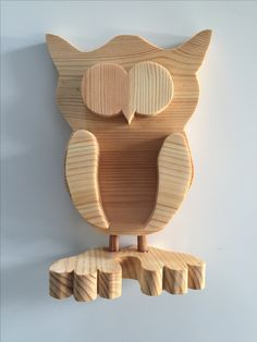 Hand-made wooden owl