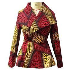 FREE TUTORIAL ALERT: HOW TO MAKE A BLAZER JACKET( PEAK-POINTED & SHAWL LAPEL) – THE Q EFFECTZ African Blouses, African Tops, African Women, African Inspired Fashion, Latest African Fashion Dresses, African Print Fashion, African Attire, African Wear, African Dress
