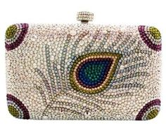 Peacock feather clutch by Judith Leiber. Beaded Purses, Beaded Bags, Judith Leiber, Clutch Purse, Crossbody Bag, Vintage Purses, Vintage Hats, Beautiful Bags, Swagg