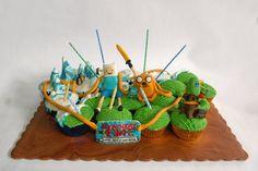 Adventure Time Cupcakes Adventure Time Cupcakes, Adventure Time Parties, Cupcake Art, Cupcake Cakes, Cup Cakes, Adventure Time Quotes, Fun Cupcakes, Sweet 16, Amazing Cakes
