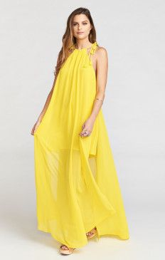 Rochester Maxi Dress ~ Daffodil Chiffon