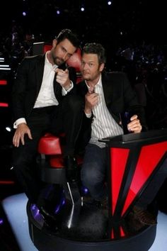 Adam Levine & Blake Shelton. Their bromance is pretty adorable. (: Hehe http://www.imsocountry.com