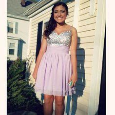 La Femme Purple Prom Or Semi Dress!!