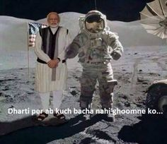 Modi on Moon (Chand Yatra) ! Weird Facts, Fun Facts, Crazy Facts, Funny Qotes, Jokes Quotes, Memes, Punjabi Jokes, Latest Funny Jokes, Whatsapp Text