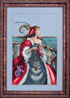 Red Lady Pirate - Mirabilia Cross Stitch Pattern