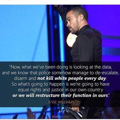 If you were just as moved by Jesse Williams' 2016 BET Awards acceptance speech as we were, then you'll want to share these quotes STAT. Award Acceptance Speech, Jesse Williams, Black History Facts, Victoria, Equal Rights, African American History, In This World, Equality, Frases