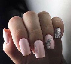 Winter Nail Designs Cute and Simple Nail Art For Winter Matte Nails, Acrylic Nails, Hair And Nails, My Nails, Pink Nails, Winter Nail Designs, Artificial Nails, Fabulous Nails, Square Nails