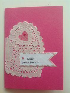 Ystävänpäiväkortti ystävälle, Valentine's day, friendship Valentines Day, Friendship, Decorations, Sweet, Cards, Valentines Diy, Velentine Day, Valantine Day, Dekoration